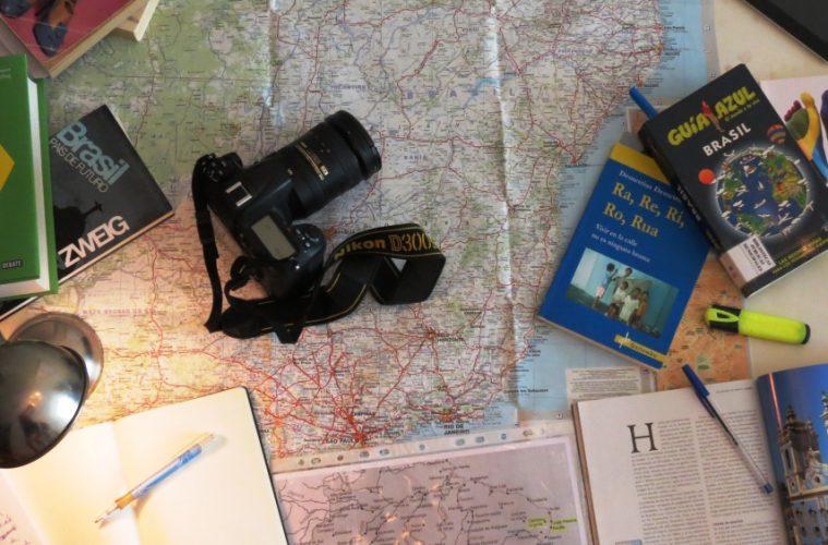 Viajar, mapa, brasil, fotografia
