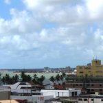 Joao Pessoa. Vistas del litoral, al fondo el punto más oriental del continente americano