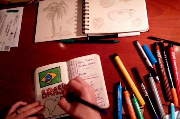 Cuadernos de viaje, Brasil, dibujar