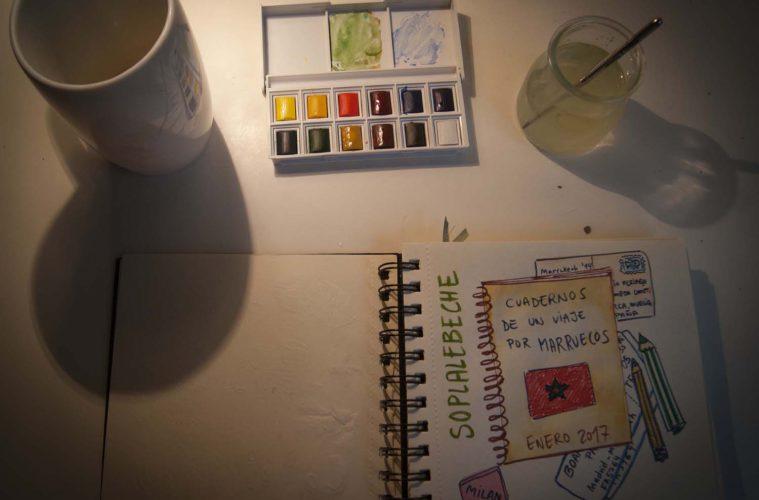 Cuadernos de viaje. Marruecos, Soplalebeche, Sketch,